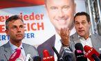 FPÖ-Kandidat Norbert Hofer und FPÖ-Chef Heinz-Christian Strache  / Bild: REUTERS