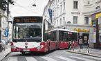 Archivbild: Testfahrt auf der Linie 13A mit einem Gelenkbus / Bild: (c) Wiener Linien / Thomas Jantzen