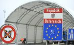 Kontrollzelt n der östereichisch-ungarischen Grenze bei Nickelsdorf.  / Bild: (c) APA (ROBERT JAEGER)