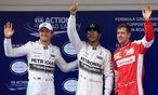 Nico Rosberg, Lewis Hamilton und Sebastian Vettel / Bild: Reuters