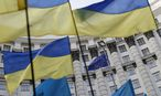 Ukrainische Flaggen in Kiew / Bild: REUTERS