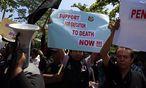 Die Todesstrafe ist in Indonesien eher unumstritten. Doch wenn es eigene Bürger im Ausland betrifft, wird Indonesien aktiv. / Bild: (c) APA/EPA/MAST IRHAM