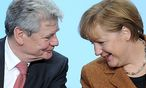 Gauck, Merkel / Bild: (c) EPA (Britta Pedersen)