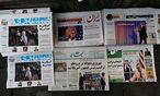 Trump in der iranischen Presse. / Bild: APA/AFP/ATTA KENARE