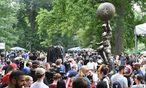 Die Staue von Captain America im Prospect Park in Brooklyn / Bild: (c) APA/AFP (ANGELA WEISS)