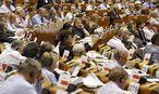 Das europäische Parlament in Brüssel. / Bild: (c) APA/EPA/JULIEN WARNAND