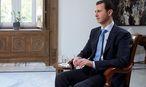 Archivbild eines TV-Interviews mit Syriens Präsident Bashar al-Assad. / Bild: APA/EPA/SANA / HANDOUT