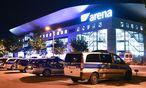 Germany's next Topmodel: Vor der Arena in Mannheim rückte die Polizei mit einem Großaufgebot an. / Bild: (c) APA/EPA/UWE ANSPACH
