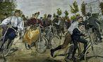 Berliner Radfahrschule / W.Zehme 1896 - Berlin bicycle school / W.Zehme 1896 - / Bild: (c) akg-images / picturedesk.com