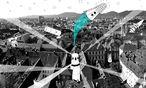 Das italienische Architekturkollektiv Orizzontale schuf im Graz-Museum eine retrofuturistische Raumstation. Auch der Steirische Herbst lässt sein Publikum heuer weit herumfliegen. / Bild: (c) Steirischer Herbst/orizzontale