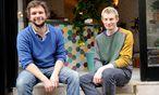 Heute wollen Philipp Blihall (l.) und Luciano Raimondi ihr Schelato eröffnen. / Bild: (c) Clemens Fabry