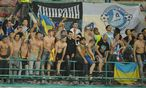 Der Traum der Dnjepropetrowsk-Fans: dass ein ukrainischer Klub die Europa League gewinnt. / Bild: (c) APA/EPA/CIRO FUSCO (CIRO FUSCO)