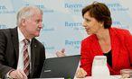Christine Haderthauer mit Horst Seehofer. / Bild: APA/dpa