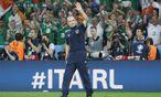 Martin O'Neill: impulsiv, begeistert – und mit Irland auch erfolgreich. / Bild: (c) REUTERS (Pascal Rossignol)