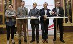 """""""Ein historischer Tag"""": Beate Meinl-Reisinger (Neos), Gernot Darmann (FPÖ), Reinhold Lopatka (ÖVP), Andreas Schieder (SPÖ) und Dieter Brosz (Grüne) einigten sich auf U-Ausschuss neu (v. l.).   / Bild: APA/GEORG HOCHMUTH"""