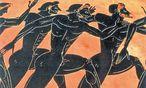 Laufbewerb in Olympia, dargestellt auf einer griechischen Amphore. / Bild: (c) imago