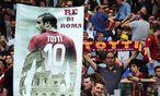 """Francesco Totti wird von den Roma-Fans als """"Wahrzeichen"""" gepriesen, er ist auch mit 40 Jahren weiterhin eine der schillerndsten Figuren in der Serie A. / Bild: (c) imago/Insidefoto (imago sportfotodienst)"""