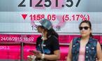 Turbulenzen auch an der Börse in Hongkong / Bild: Bloomberg