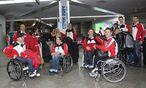 Paralympics-Team bei der Ankunft / Bild: GEPA pictures