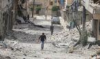 Aufnahme aus Aleppo vom Dienstag / Bild: REUTERS