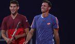 Dennis Novak und Dominic Thiem sind knapp gescheitert. / Bild: (c) Gepa