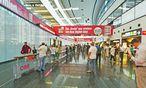 Lieber gleich zu Hause bleiben? Ankunftshalle, Flughafen Wien.  / Bild: (c) Freitag