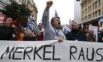 Die Reformen haben in Griechenland für viel Wut gesorgt – vor allem auf Deutschland. Das Land bleibt trotz allem als letztes noch unter dem EU-Rettungsschirm. / Bild: (c) REUTERS (ALKIS KONSTANTINIDIS)
