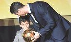 Cristiano Ronaldo und sein Sohn / Bild: GEPA pictures
