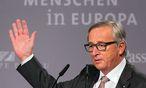EU-Kommissionspräsident Jean-Claude Juncker bei einer Podiumsdisskussion in Passau. / Bild: (c) APA/EPA/ARMIN WEIGEL