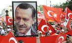 Ein Bild von der Pro-Erdoğan-Kundgebung am Wochenende in Wien / Bild: APA/HANS PUNZ