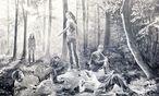 Dominiert den Stand des Wiener Galeristen Georg Kargl auf der Viennacontemporary: Fast vier Meter breite Kreidezeichnung von Muntean/Rosenblum, 2016. / Bild: (c) Georg Kargl