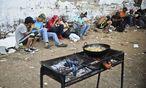 Drogenabhängige in der Hauptstadt Bogota. / Bild: APA/AFP/LUIS ROBAYO