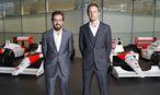 Die Piloten Fernando Alonso und Kevin Magnussen / Bild: APA/EPA/MCLAREN-HONDA