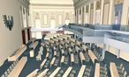 Plan für Redoutensaal / Bild: (c) Parlament