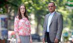 Oksana Stavrou mit Ahmad Majid / Bild: Die Presse