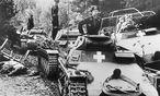 Deutsche Panzereinheit am Fluß Brahe (Brda) / Bild: Bundesarchiv