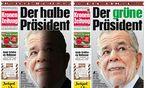 Rechts: die ''Krone''-Ausgabe für Vorarlberg und Tirol, links die für das restliche Österreich / Bild: (c) APA (UNBEKANNT)