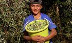 Kind mit Oliven / Bild: APA/EPA/ALAA BADARNEH