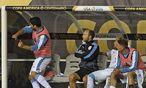 Luis Suárez tobt / Bild: APA/AFP/DON EMMERT