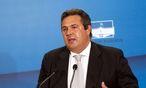 """Gründer und Chef der """"Unabhängigen Griechen"""", Panos Kammenos / Bild: EPA (Alexandros Beltes)"""