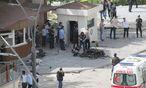 Bombenanschlag vor der Polizeizentrale in der südtürkischen Stadt Gaziantep. / Bild: REUTERS