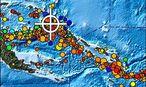 Von den US-Behörden herausgegebene Karte zum jüngsten Erdbeben in Papua-Neuguinea / Bild: APA/EPA/NOAA