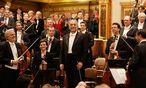 Großfamilie: Zubin Mehta feiert seinen 80. Geburstag am Pult der Wiener Philharmoniker, das Bild entstand beim Geburtstagskonzert am 29. April / Bild: (c) WIENER MUSIKVEREIN/DIETER NAGL (DIETER NAGL)