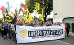 Archivbild: Aufmarsch der Identitären im Juni in Wien / Bild: (c) APA/HERBERT PFARRHOFER