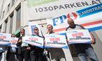 Protestaktion der FPÖ / Bild: APA/GEORG HOCHMUTH