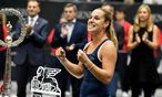 Dominika Cibulková gewann in Linz und ergatterte das Masters-Ticket. / Bild: (c) APA/BARBARA GINDL