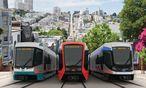 Drei von Siemens vorgeschlagene Zugdesignvarianten.  / Bild: Siemens