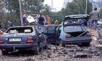 Bild vom Attentat im Mai 1992. / Bild: (c) Imago