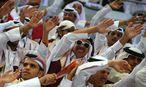 Katarische Fans / Bild: APA/Qatar 2015 via epa/Srdjan Su