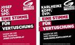 Inserate der Grünen / Bild: (c) APA/Gruene